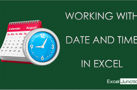 Working with DATE and TIME in Excel