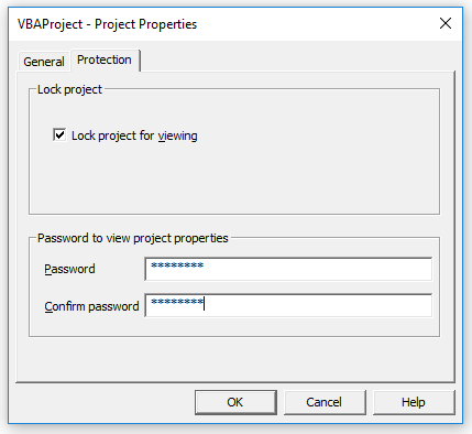Password Protect a VBA Project